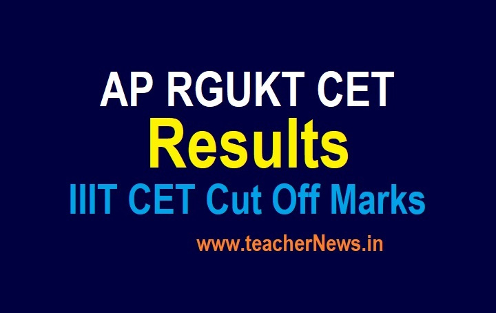 AP IIIT Result 2021 (Released) AP RGUKT CET IIIT Official Cut off Marks 2021